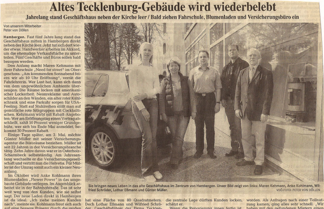 Fahrschule Need for Street OHZ in der Presse